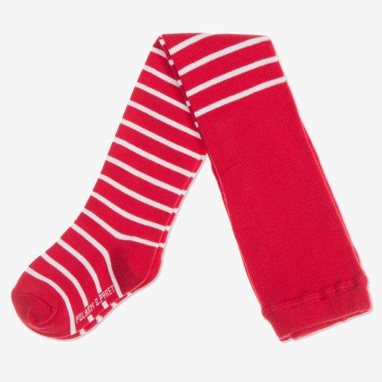 Strømpebukse stripet baby rød