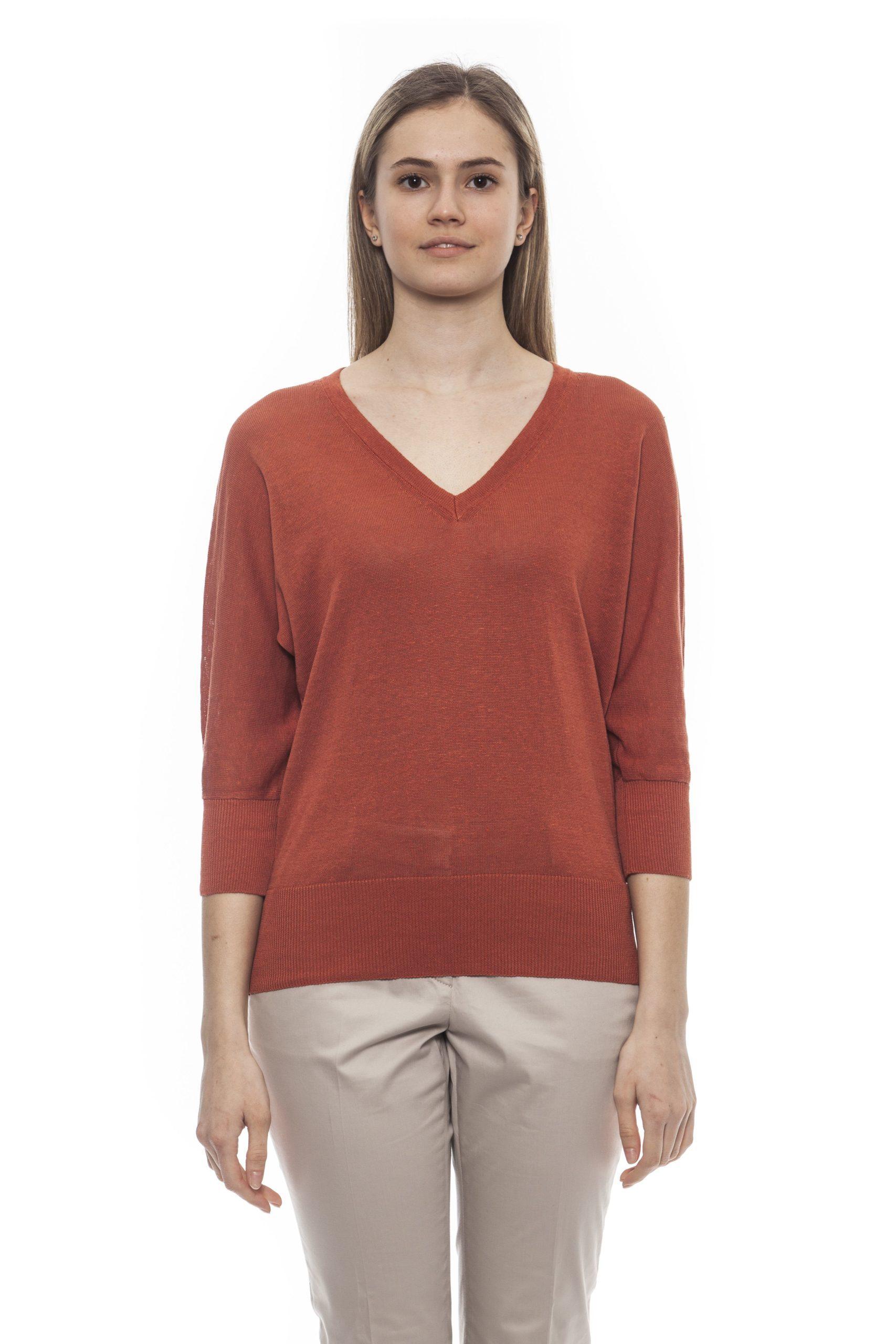 Peserico Women's Marrone Sweater Brown PE1383098 - IT42   S