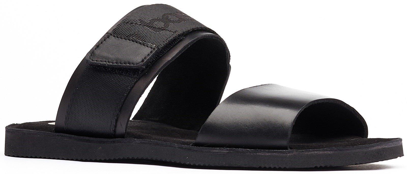 Base London Men's Katsu Slip On Sandal Various Colours 32262 - Black 7