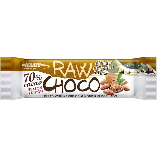 Raw Choco Almonds Fudge 45g - 90% alennus