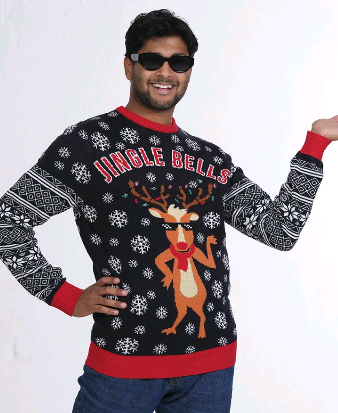 Jingle Bells LED Christmas Sweater - XL
