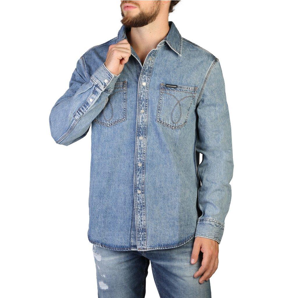 Calvin Klein Men's Shirt Blue 349424 - blue M