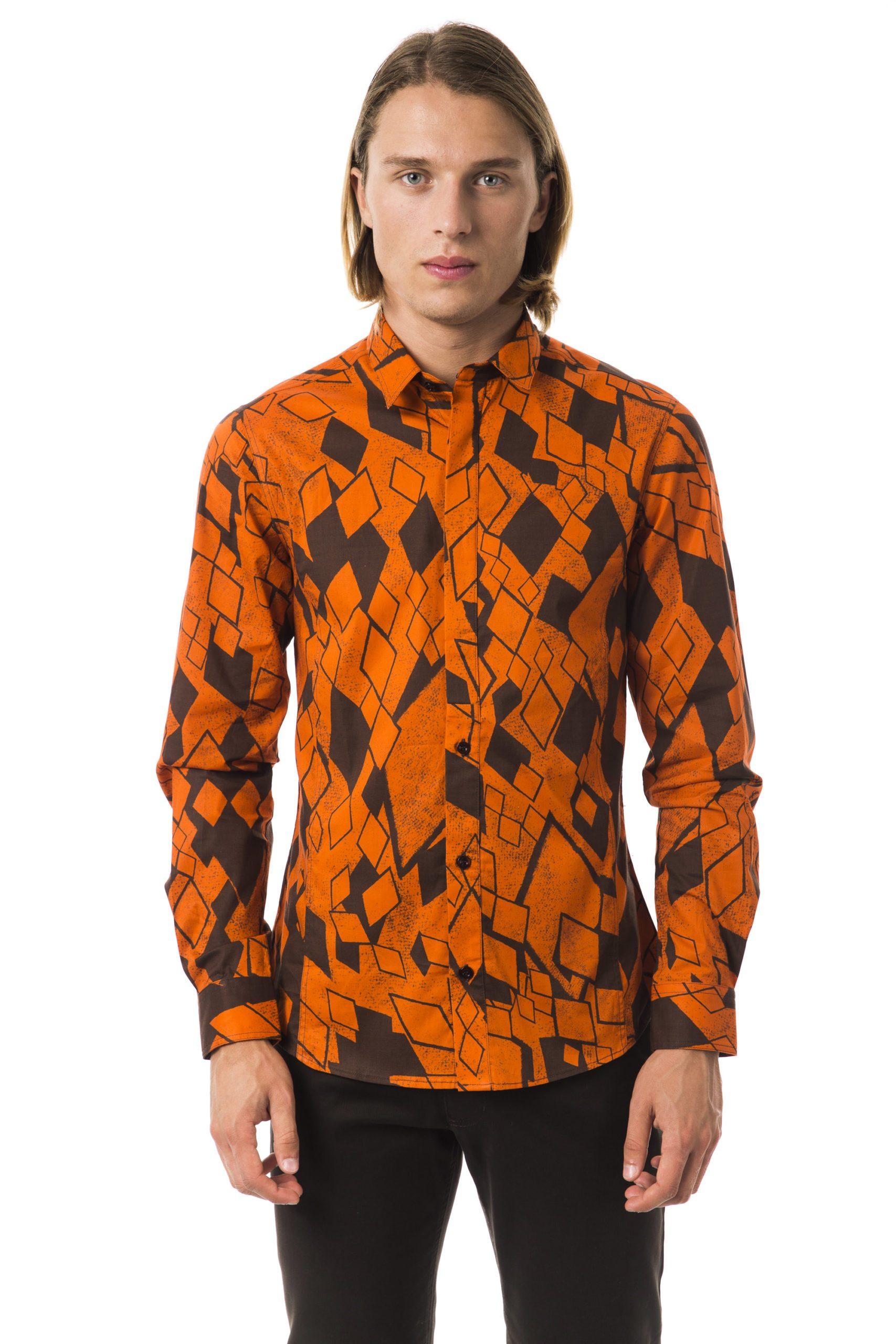 BYBLOS Men's Acacia Shirt Orange BY1394468 - S
