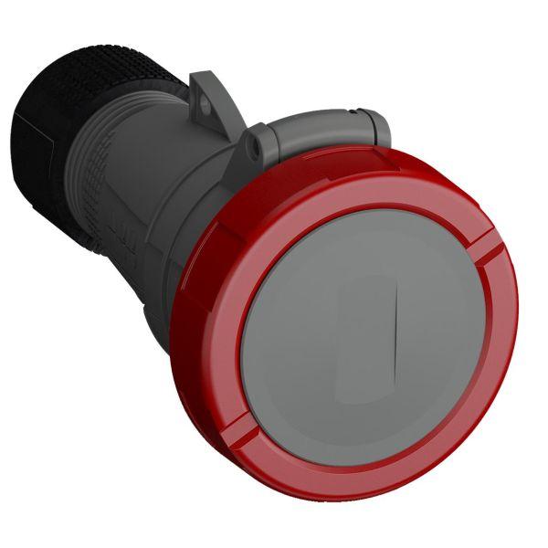 ABB 2CMA101150R1000 Jatkopistorasia pikaliitettävä, tärinänkestävä Punainen, 32 A, 4-napainen