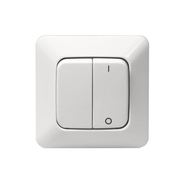 ABB 10621U2 Strømstiller innfelt, IP20, alpinhvit 2 + 1 pol