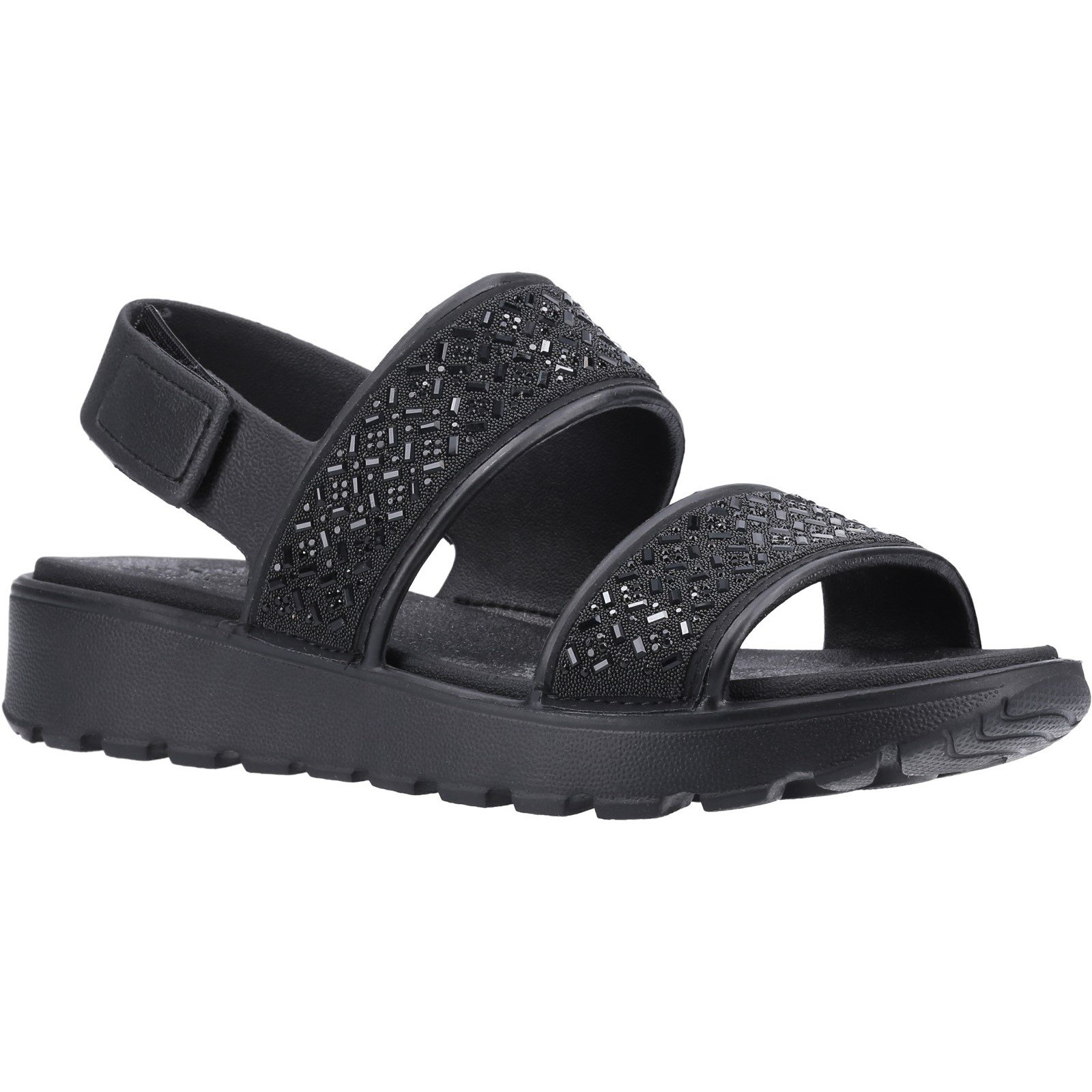 Skechers Women's Footsteps Glam Party Sandal Black 32369 - Black 5