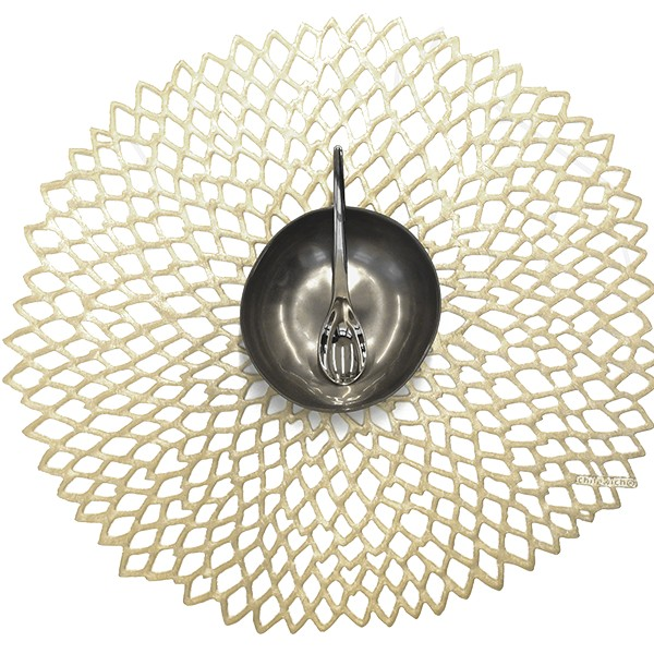 Chilewich I Dahlia Placemat I Champagne