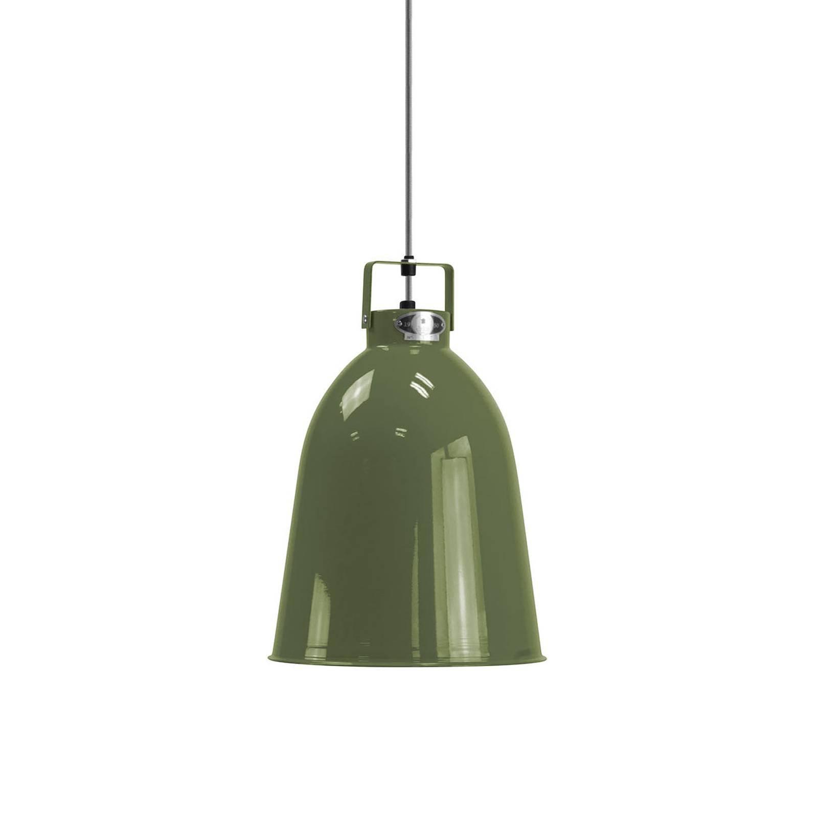 Jieldé Clément C240 hengelampe, oliven, Ø 24 cm