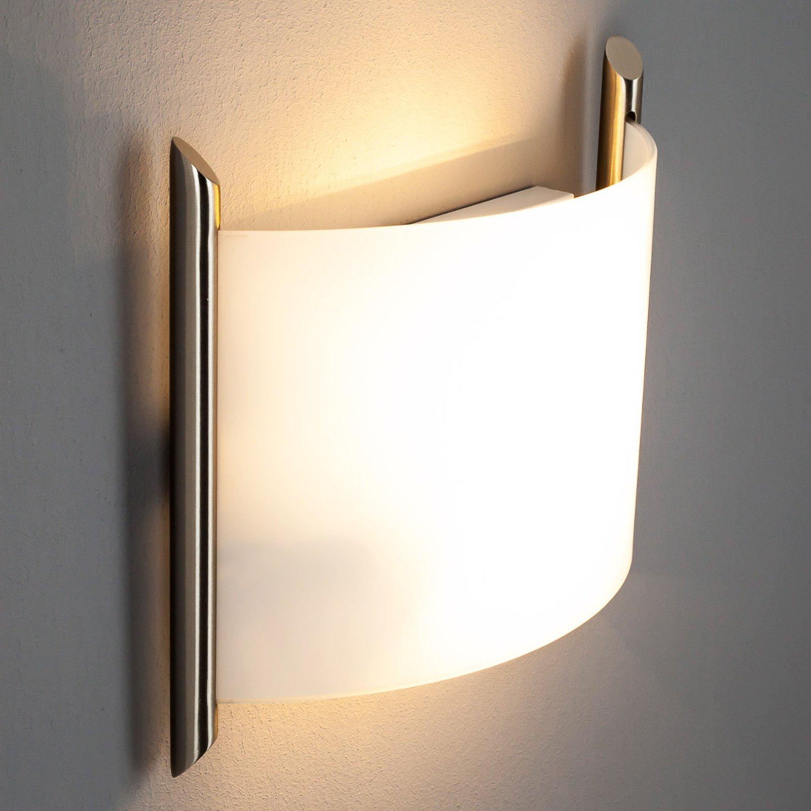 Vegglampe Filippa, 31 cm, nikkel satinert