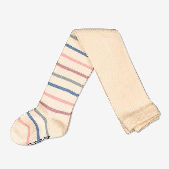 Stripet strømpebukse off-white