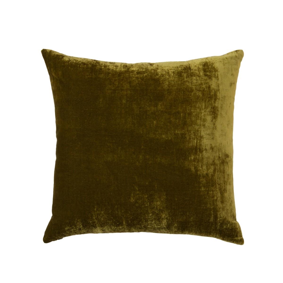 William Yeoward |Paddy Velvet Cushion Olive