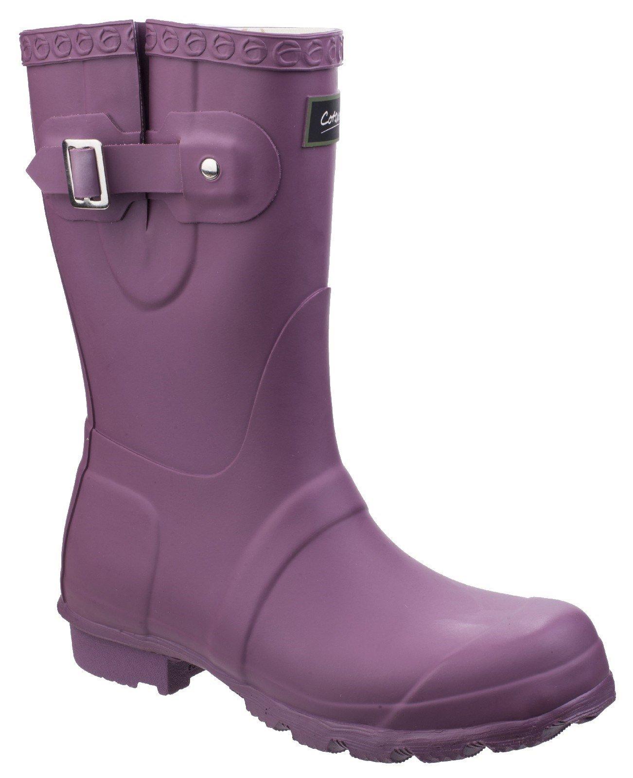 Cotswold Women's Windsor Short Wellington Boot Various Colours 25537 - Purple 3