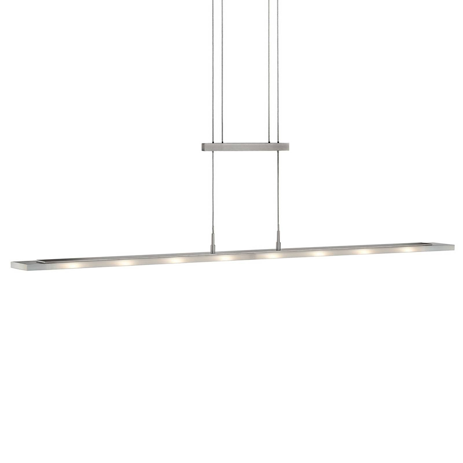 LED-hengelampe Mia, dimbar, matt nikkel