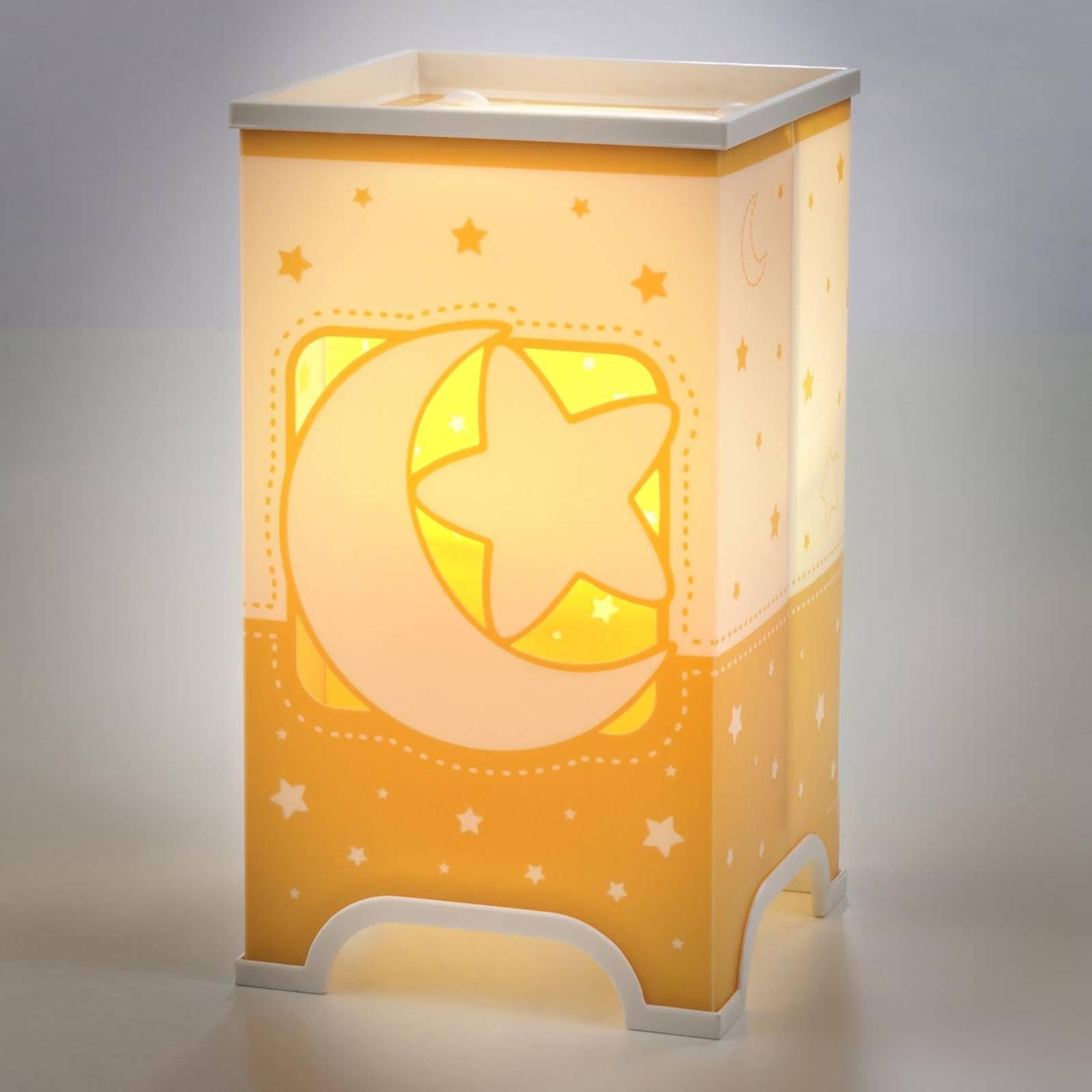 Fluoresoiva, oranssi pöytävalaisin Stars