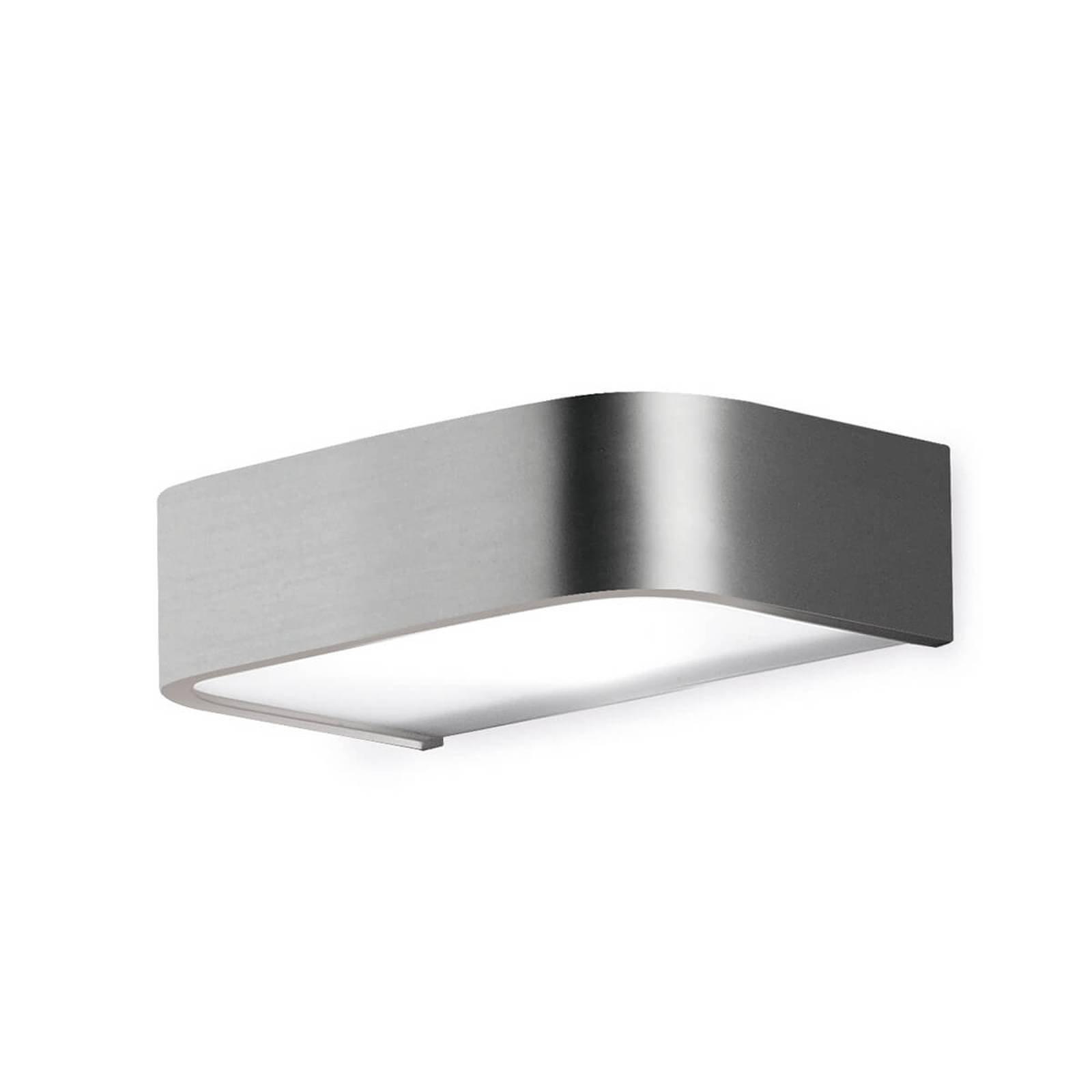 Baderom-vegglampe Arcos med LED, 15 cm nikkel