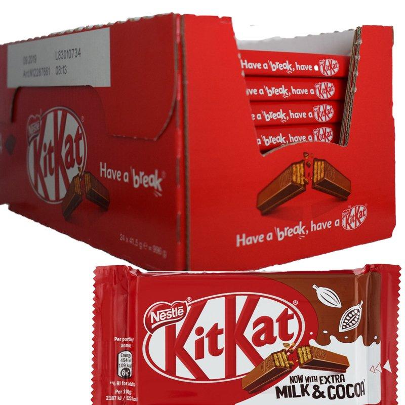 "Hel Låda Mjölkchokladbars ""Kitkat"" 40 x 41,5g - 52% rabatt"