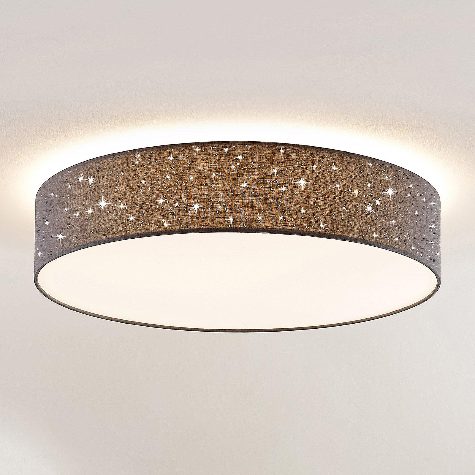 Lindby Ellamina LED-taklampe, 60 cm, mørkegrå
