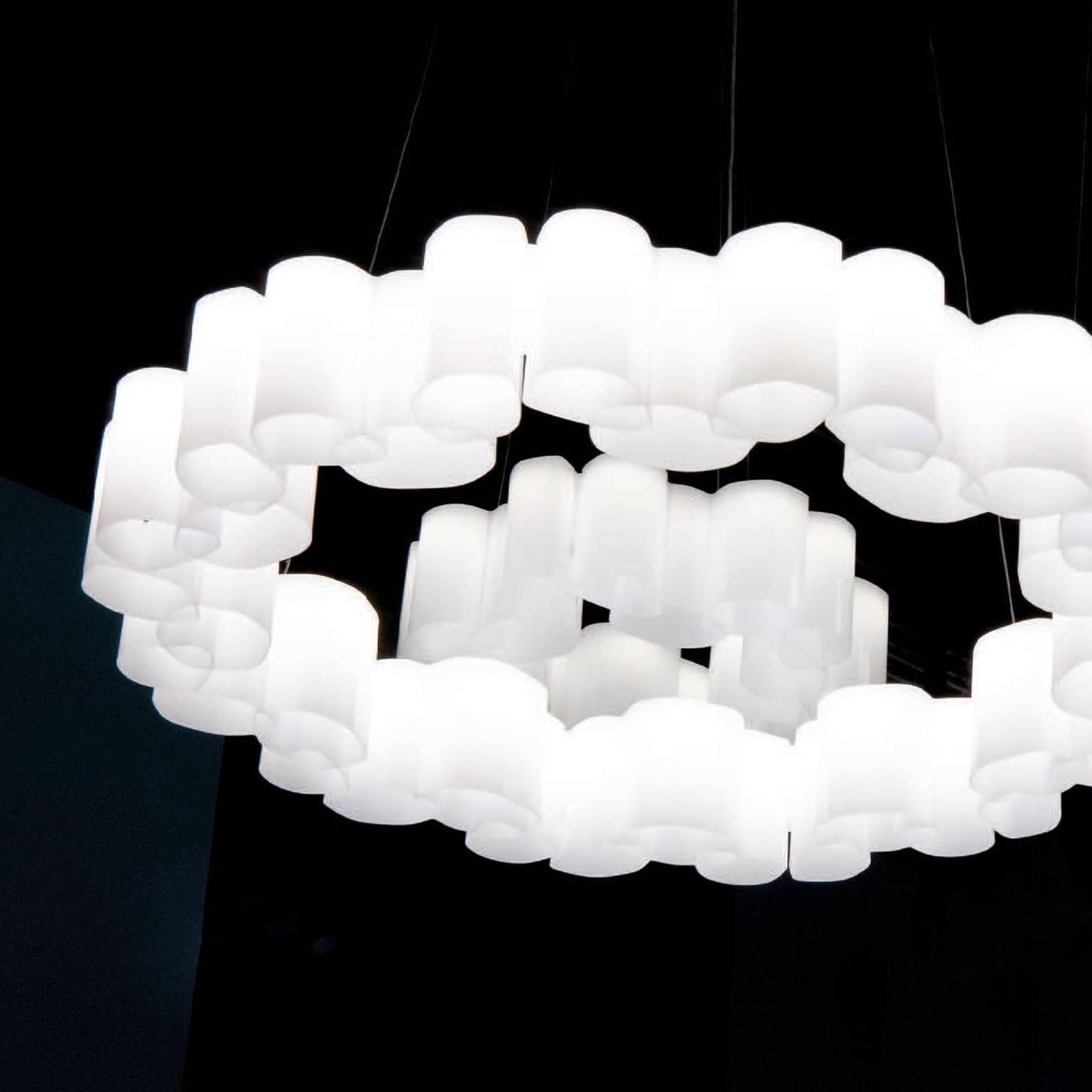 LED-riippuvalaisin Honey, himmennys, pyöreä, 58 cm