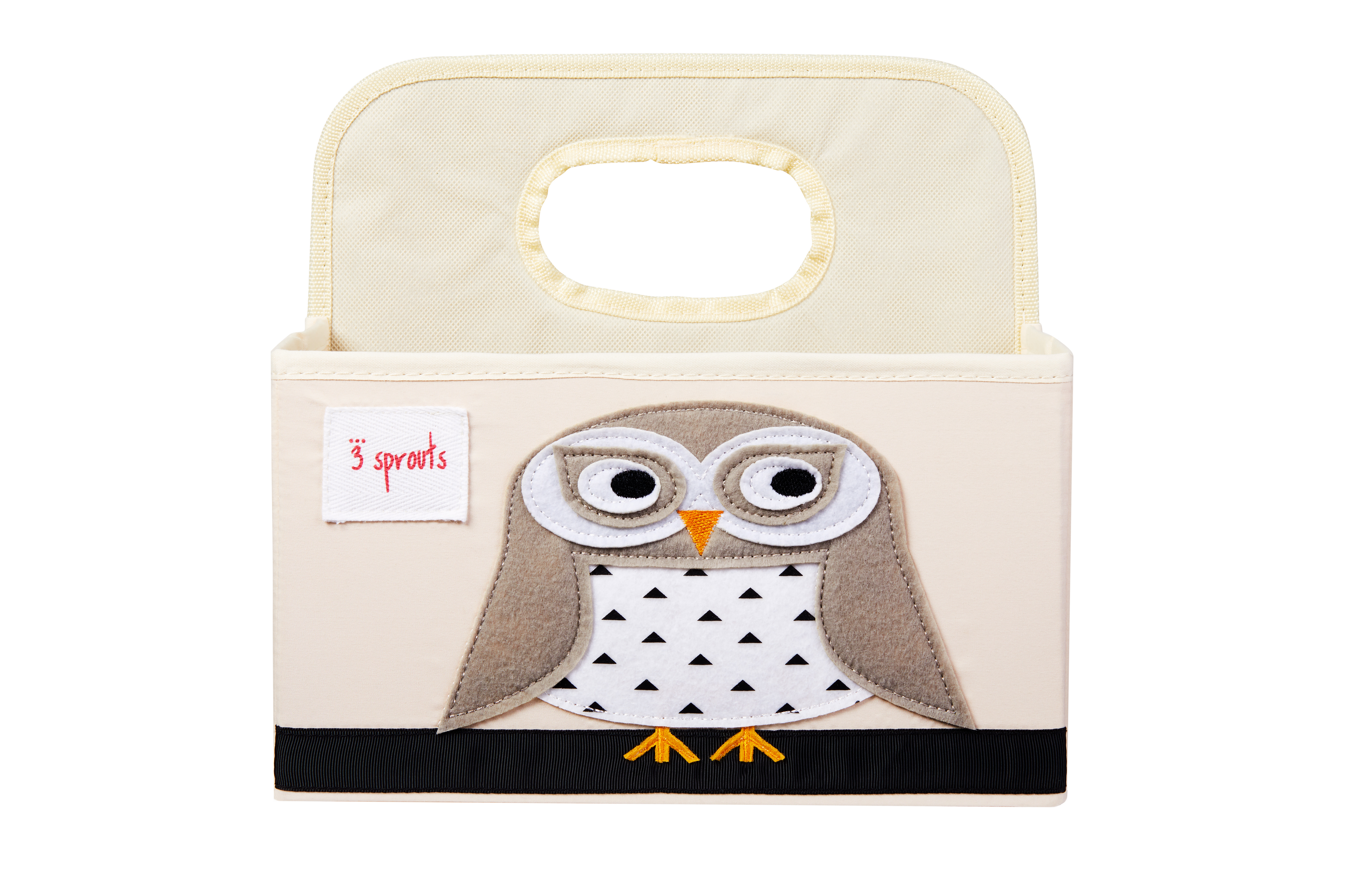 3 Sprouts - Diaper Caddy - White Owl