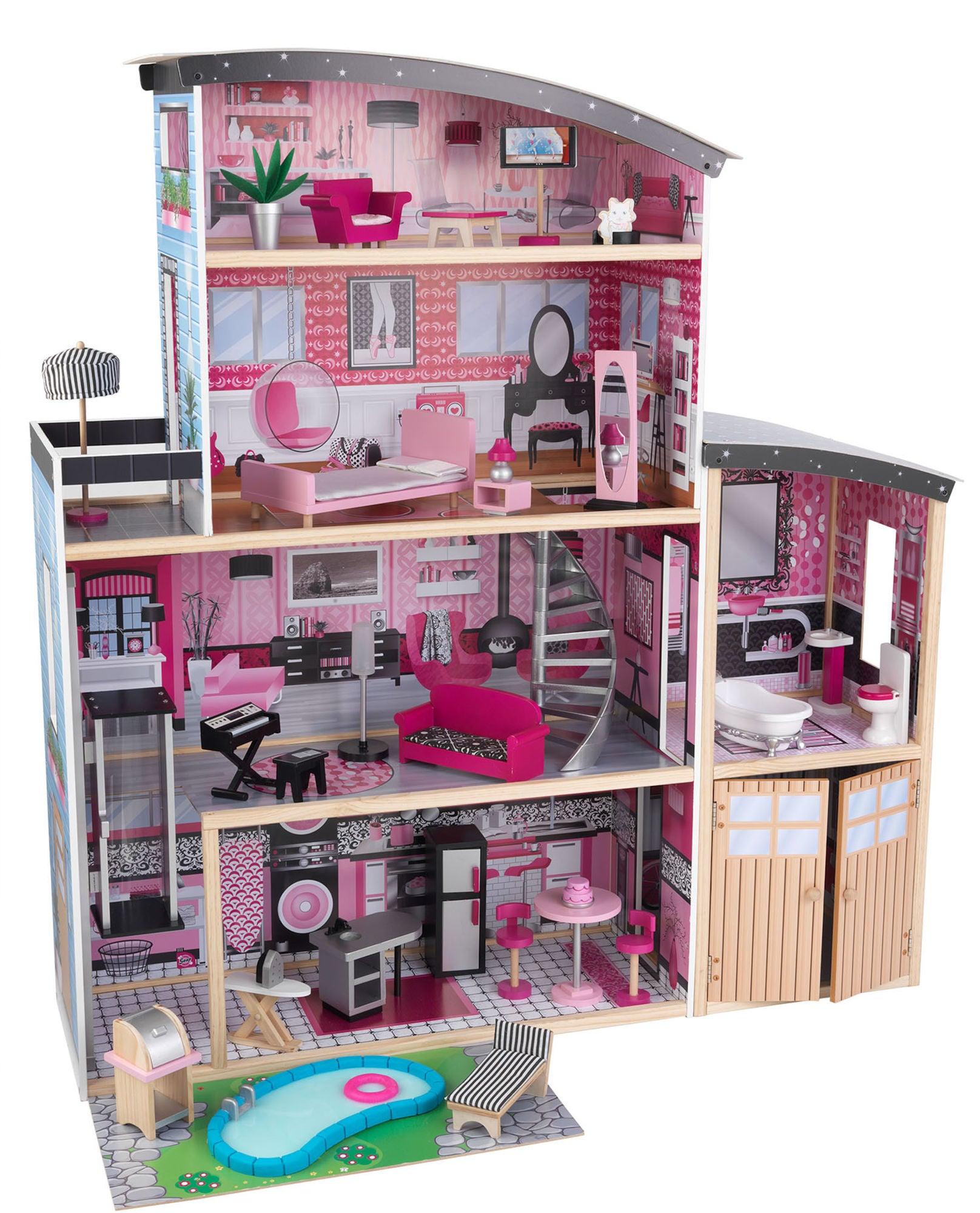 KidKraft Sparkle Mansion Nukkekoti, Vaaleanpunainen