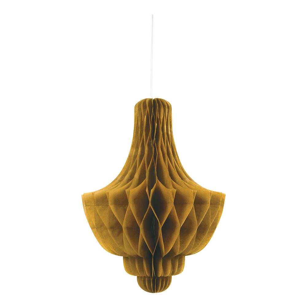 Honeycomb Chandelier Guld