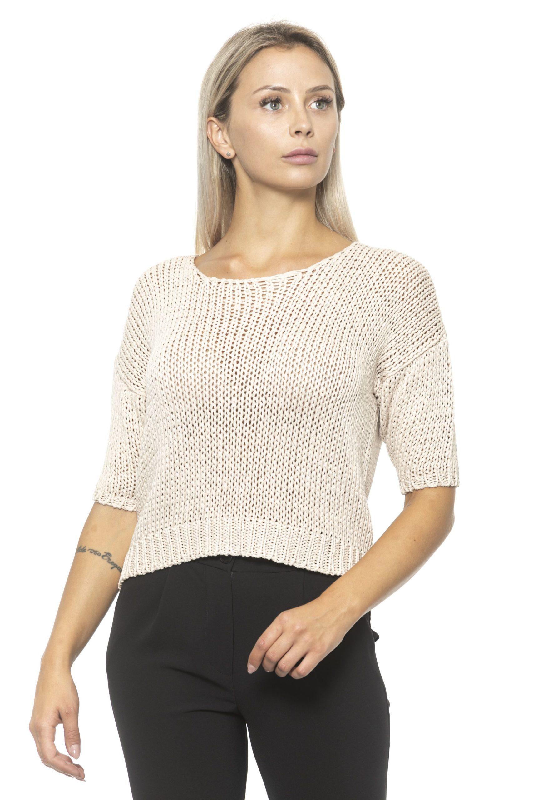 Alpha Studio Women's Nude Sweater Beige AL1314893 - IT40 | XS