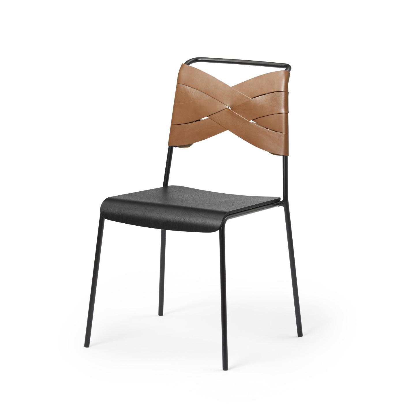 Torso Chair svart/ cognac, Design House