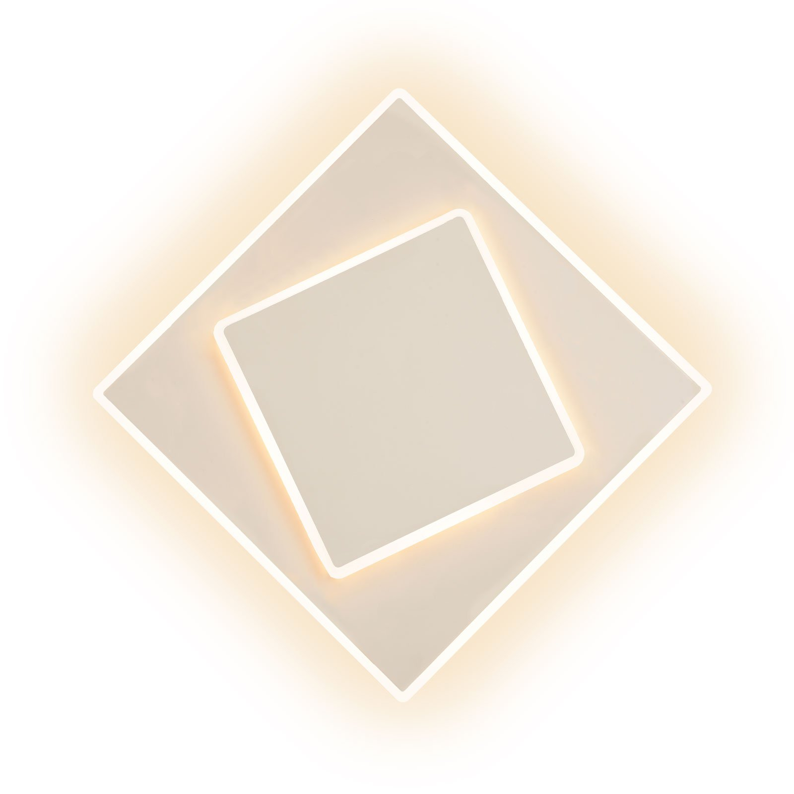 Dakla LED-vegglampe, hvit, 18x18 cm