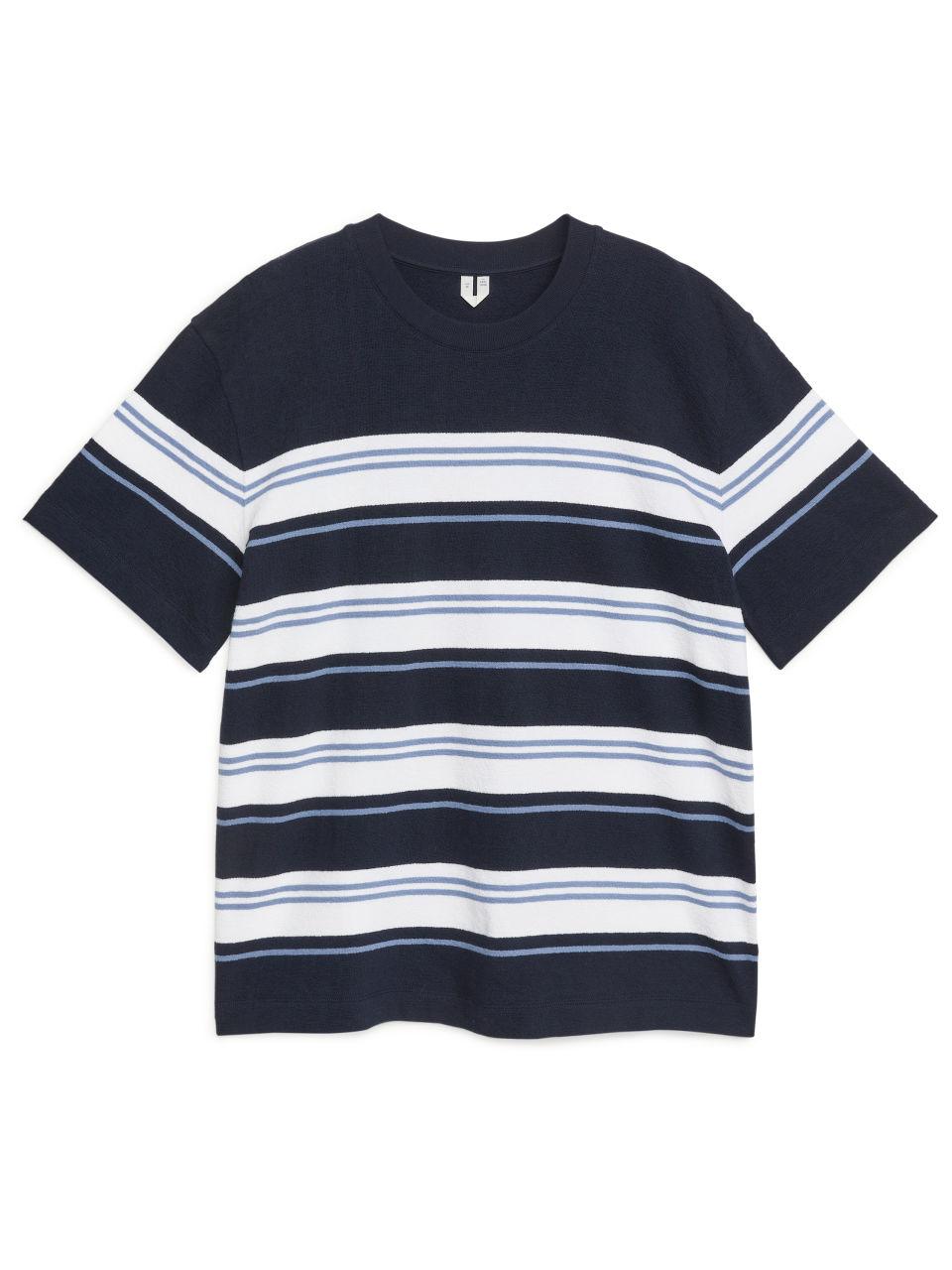 Oversized Bouclé T-Shirt - Blue