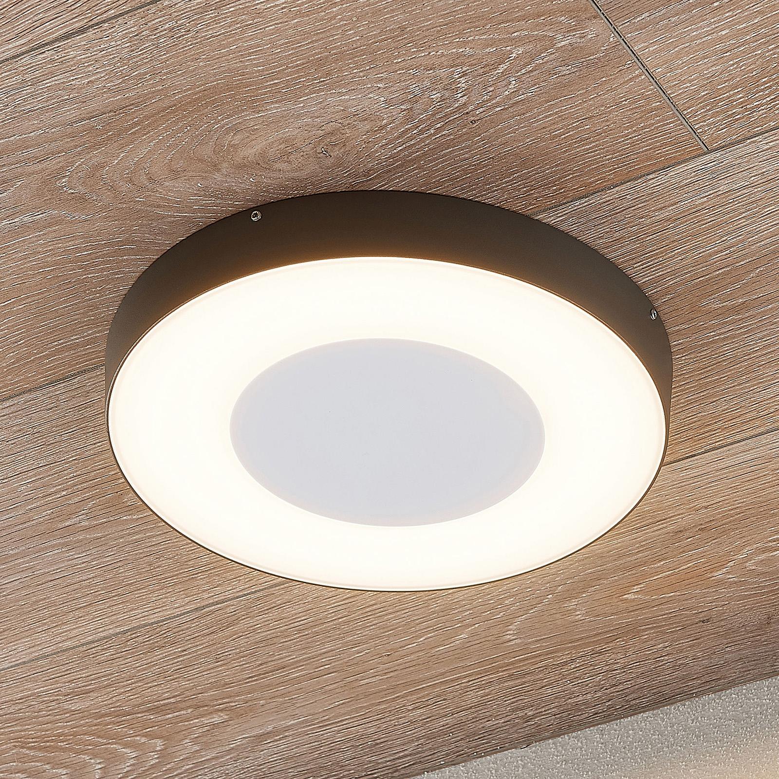 LED-ulkokattovalaisin Sora, pyöreä, sensori