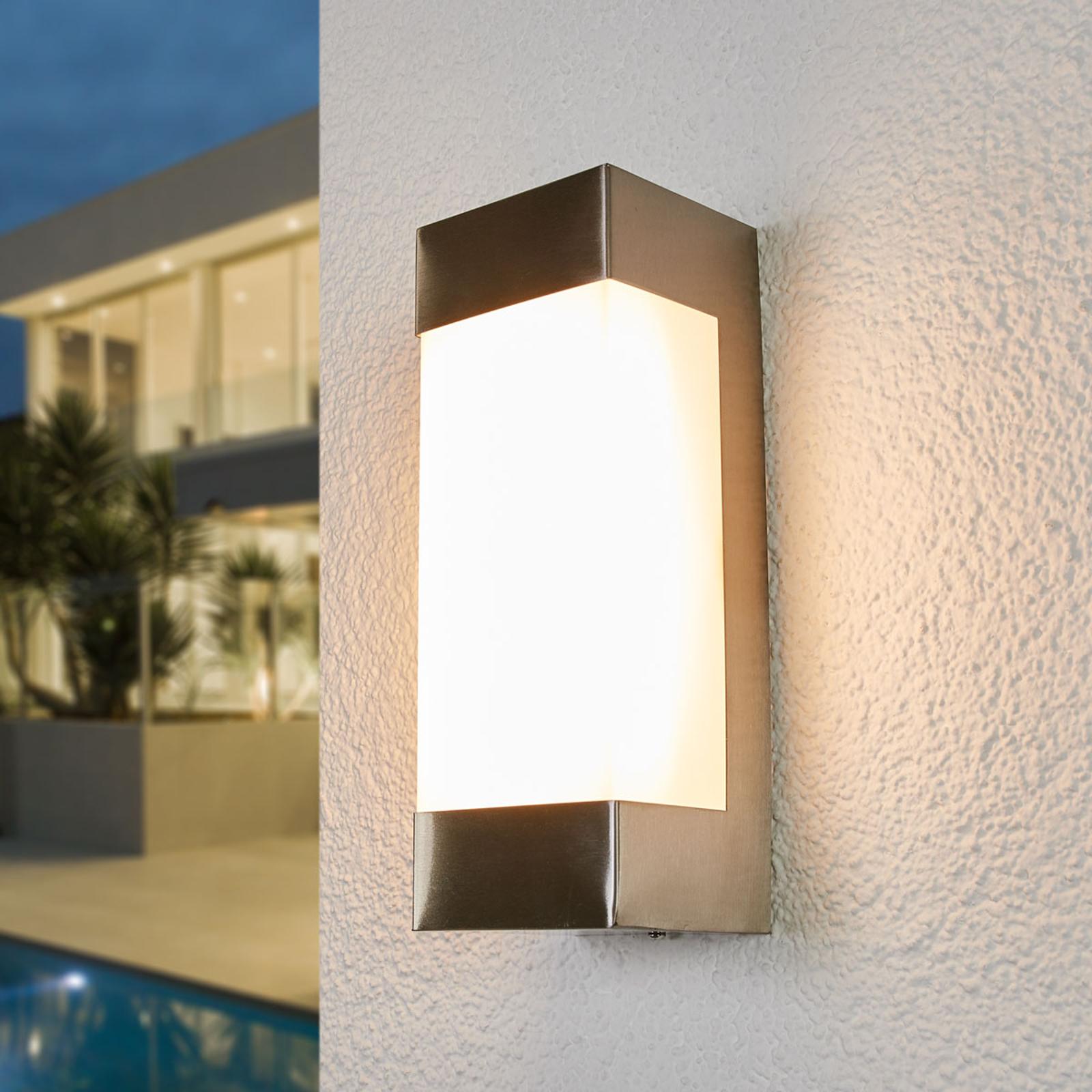 Severina – LED-seinälamppu, ruostumaton teräs