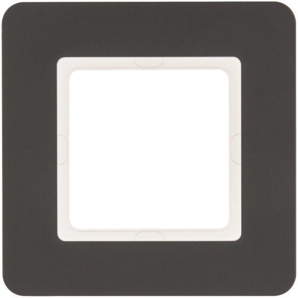 Hager 10116186 Peitekehys 1-paikkainen, Q.7, muovi Antrasiitti