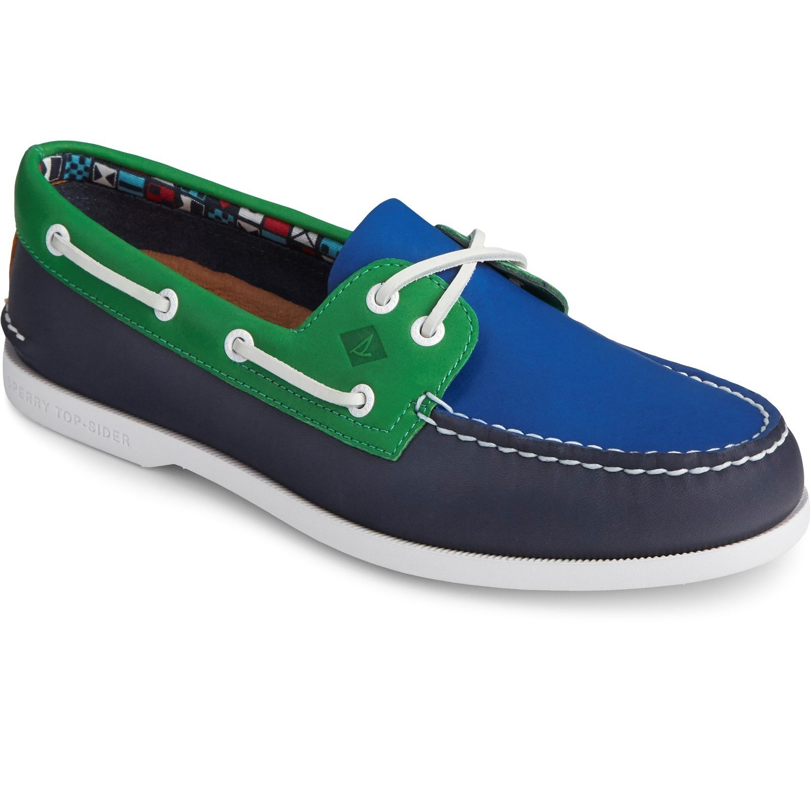 Sperry Men's Authentic Original PLUSHWAVE Boat Shoe Various Colours 31732 - Navy Multi 10