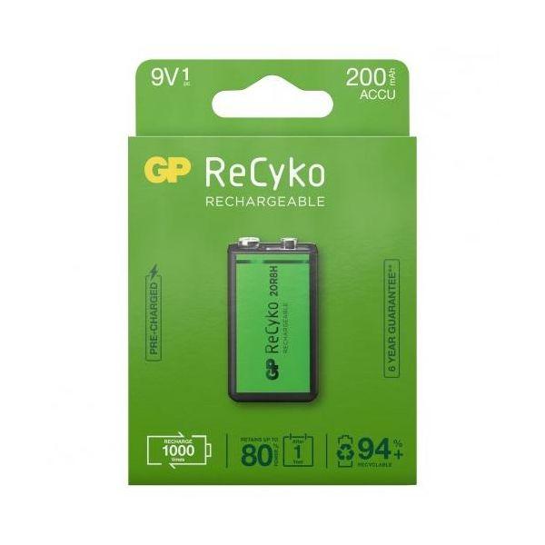 GP Batteries ReCyko 200 Ladattava akku 9 V