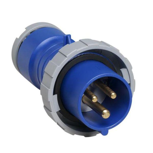 ABB 2CMA166460R1000 Støpsel IP67, 16 A, skrueklemme 3-polet, blå