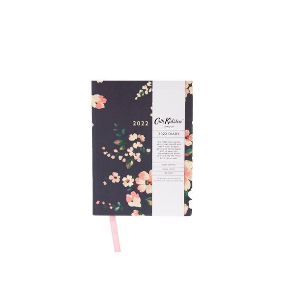 Autumn Dark Floral 2022 Diary A6ish