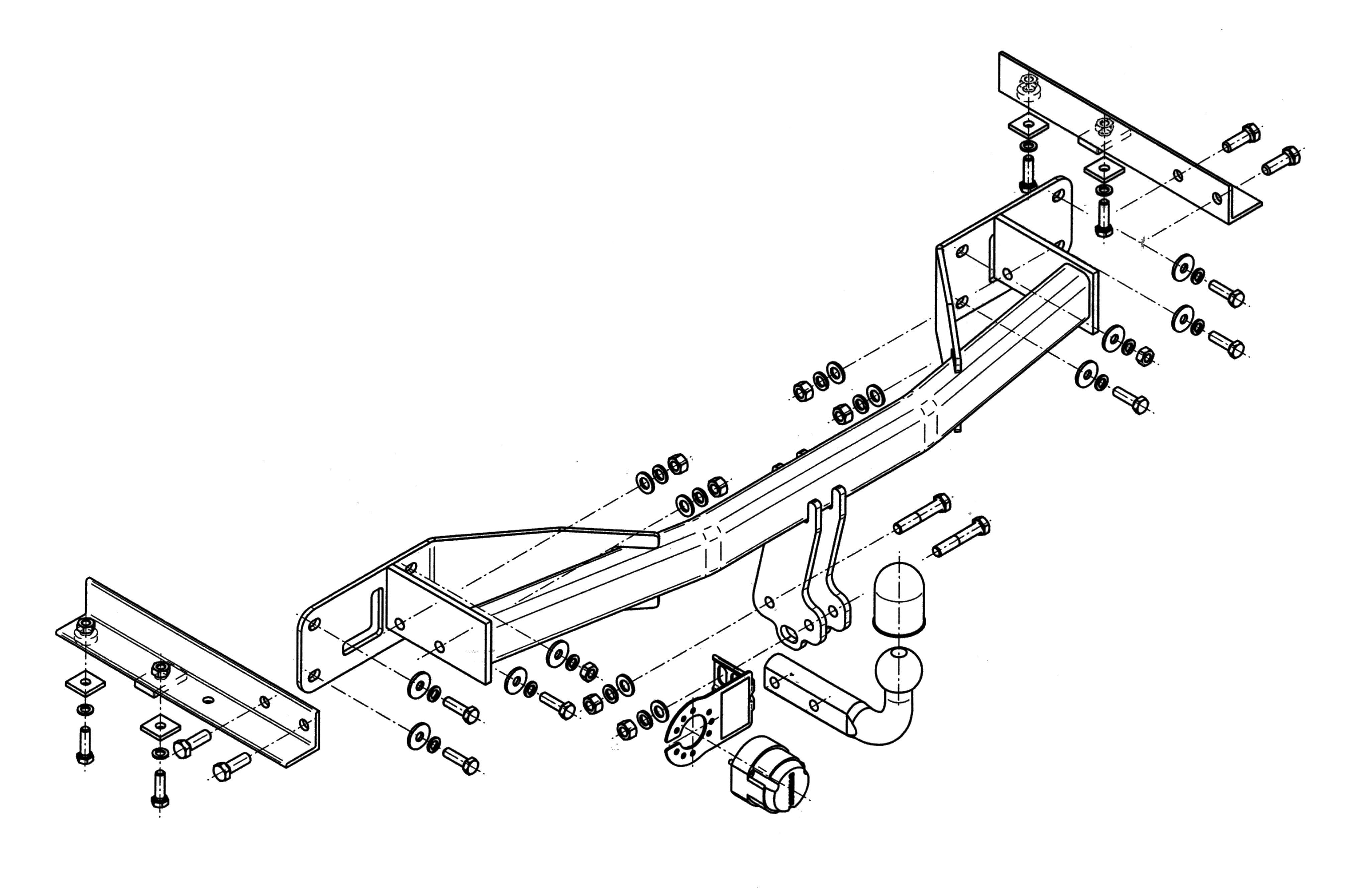 Vetokoukku STEINHOF STO-176 Opel Meriva '10-