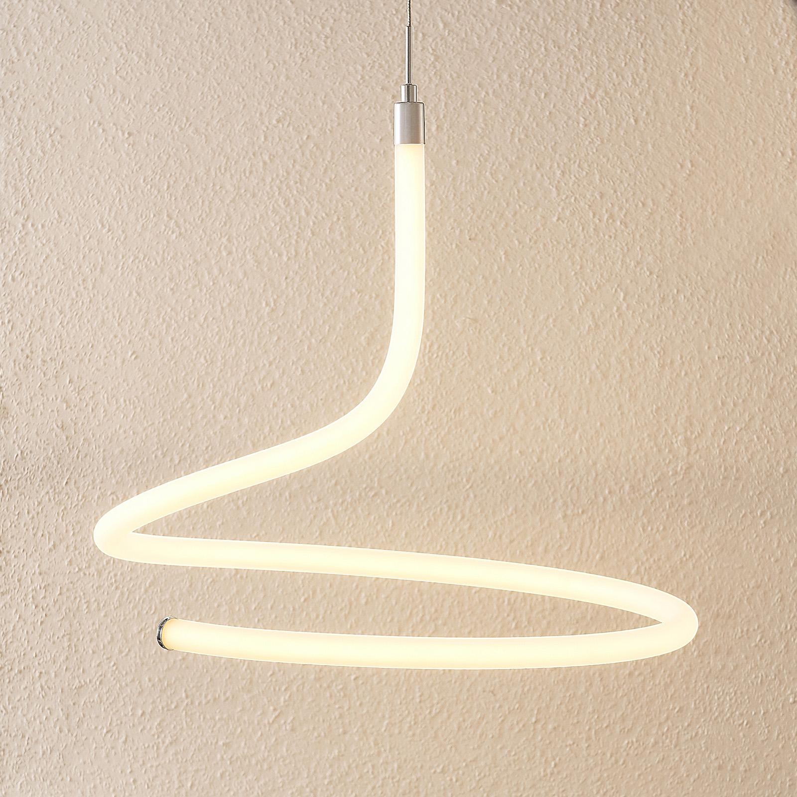 Lucande Serpentina -LED-riippuvalo, himmennettävä