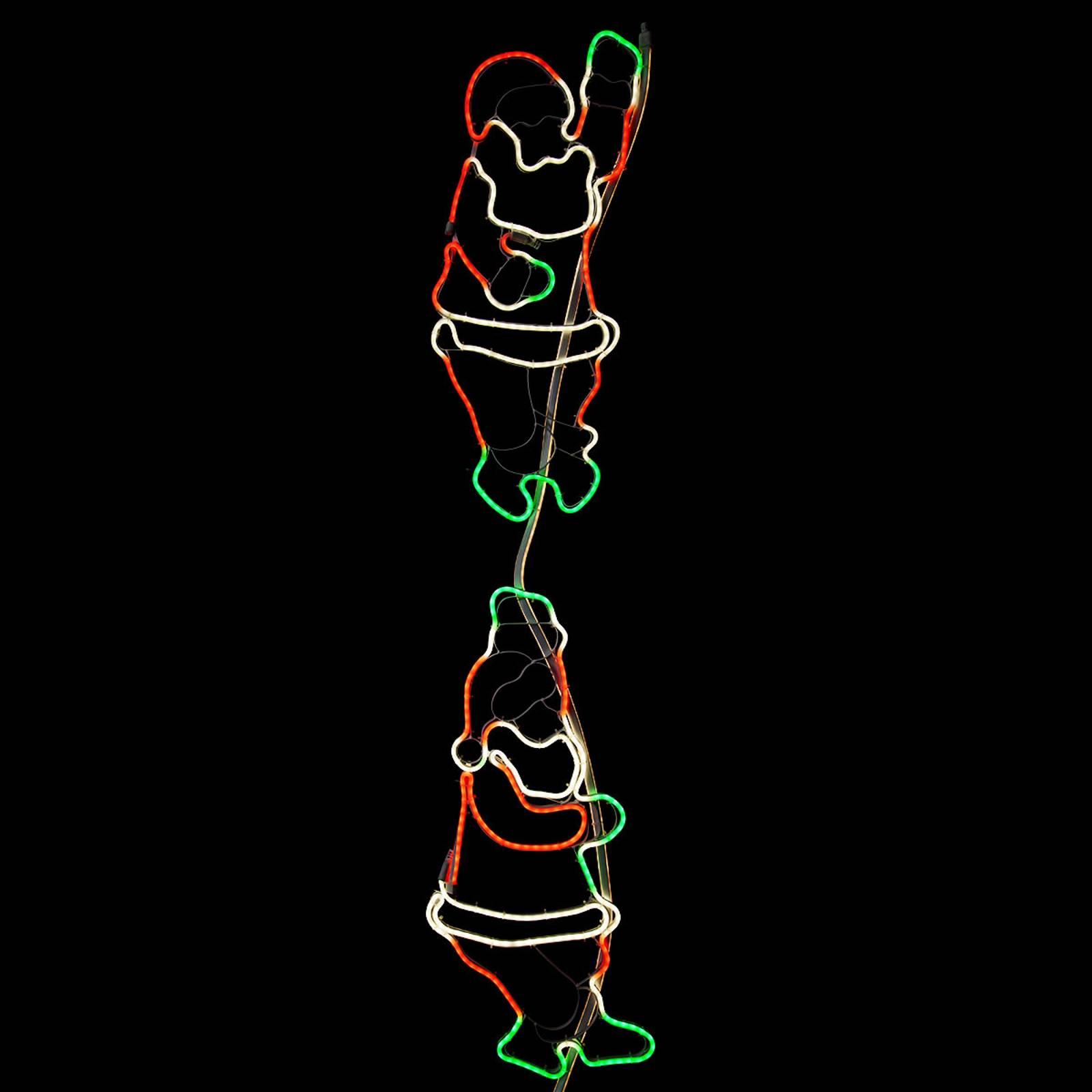 Kiipeävät joulupukit - LED-ulkokoriste NeoLED