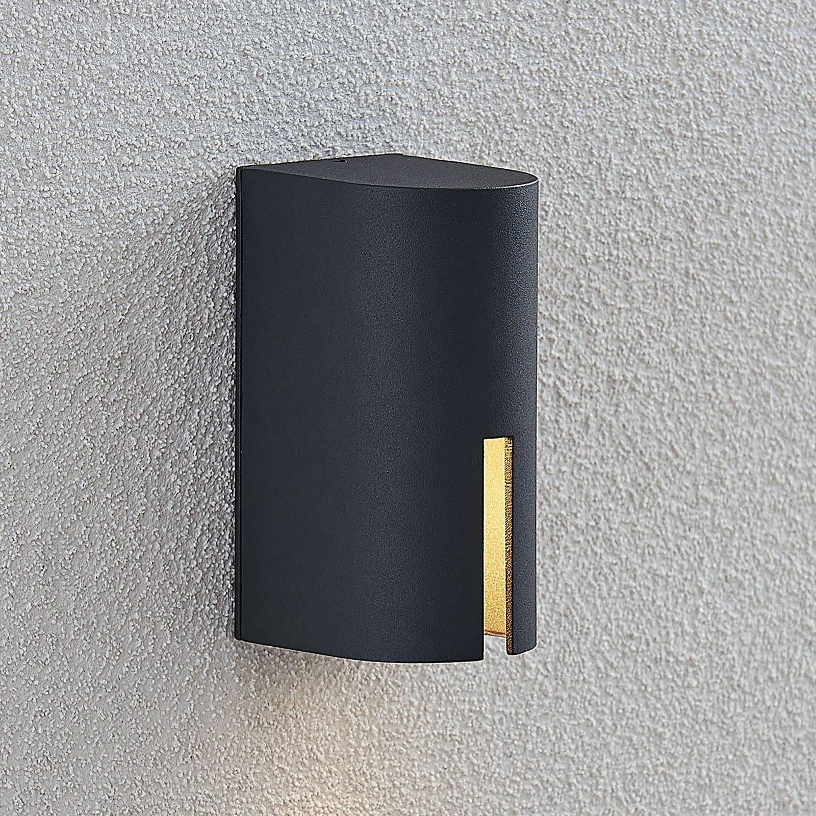 Utendørs LED-vegglampe Mariano, 1 lyskilde