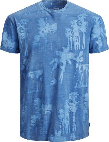 Jack & Jones Photopalm Crewneck T-Shirt, Bonnie Blue 128