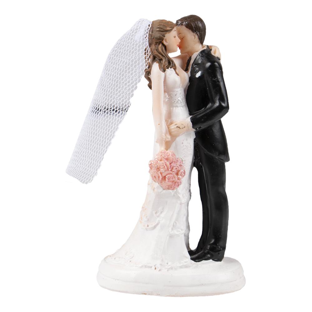 Bröllopsfigur Kyssande Brudpar