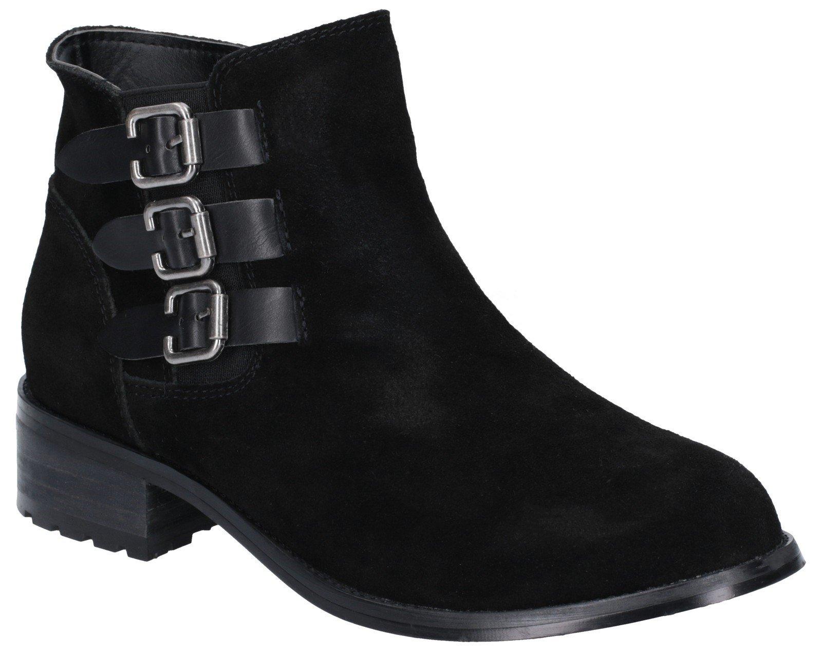 Divaz Women's Lexi Slip On Buckle Boot Black 27162-45641 - Black 3