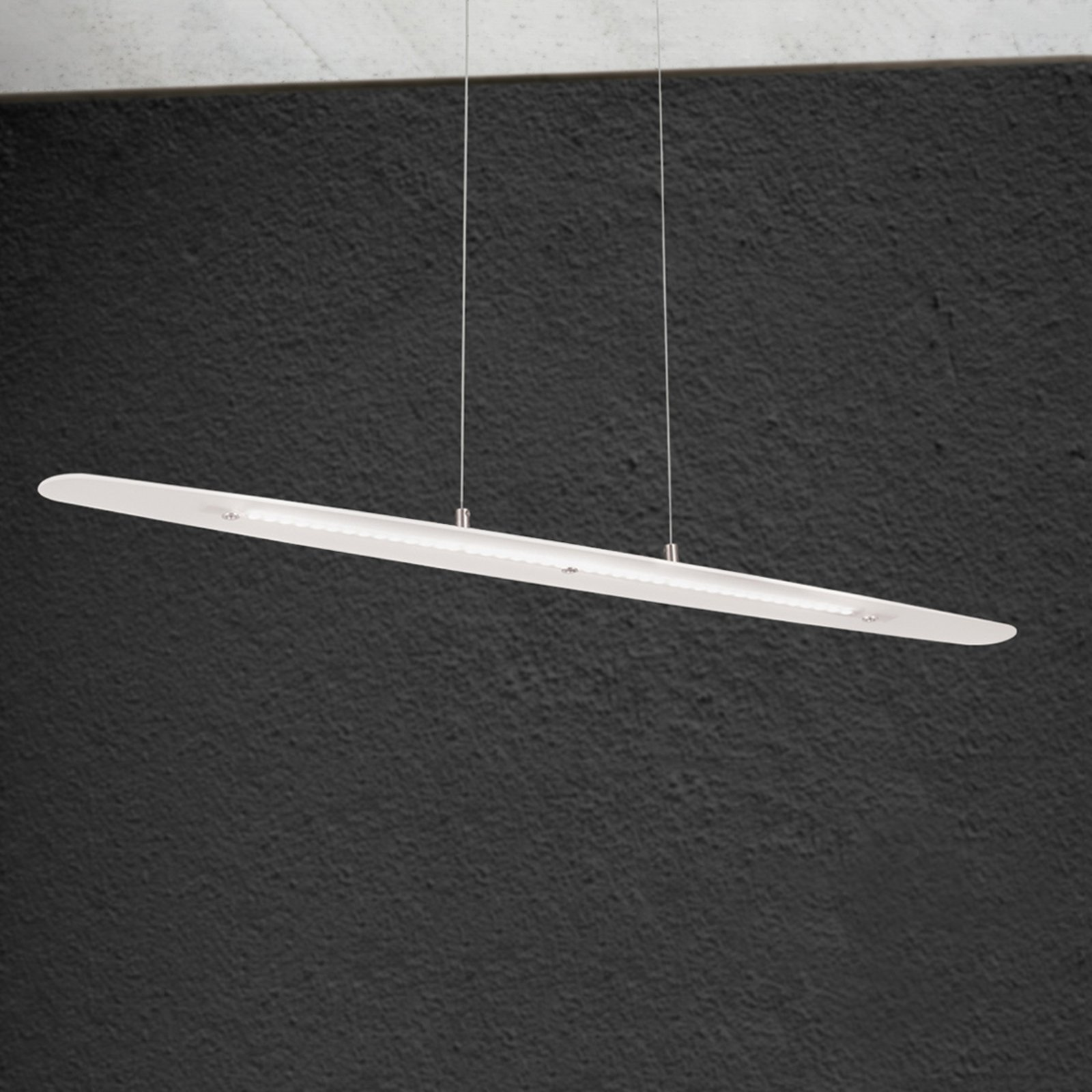 Avlang LED-hengelampe Sabira