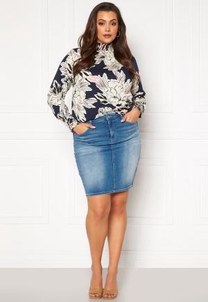 Only Carmakoma Lalola Life Skirt Medium Blue Denim 52