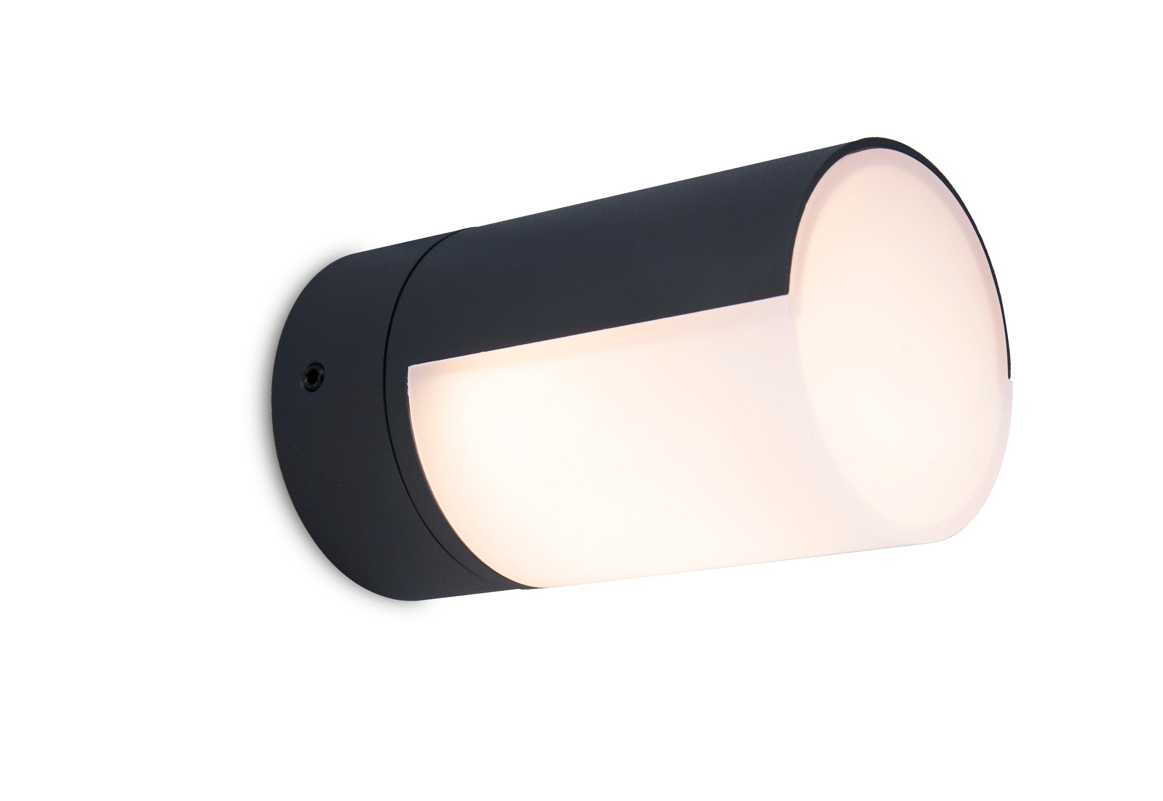 Lutec -Cyra Outdoor Wall Light - Black