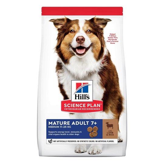 Hill's Science Plan Dog Mature Adult 7+ Medium Lamb & Rice (2,5 kg)