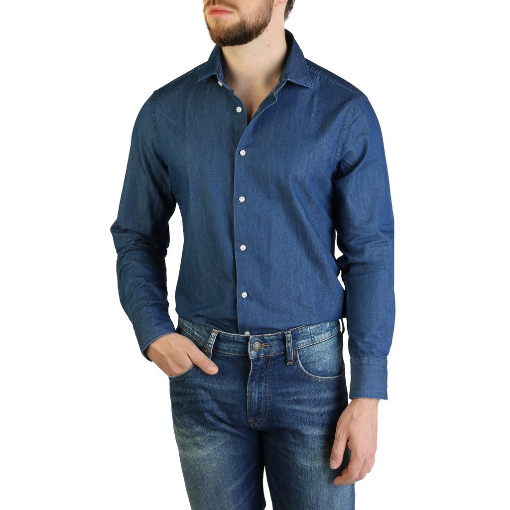 Tommy Hilfiger Men's Shirt Blue TT0TT06009 - blue 37
