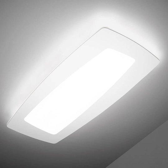 Hvit LED-taklampe Debra Rettangolo 65 cm