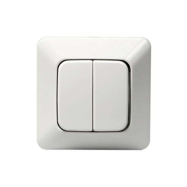 ABB 10666U4 Strømstiller innfelt, IP20, uten klor Dobbeltrapp